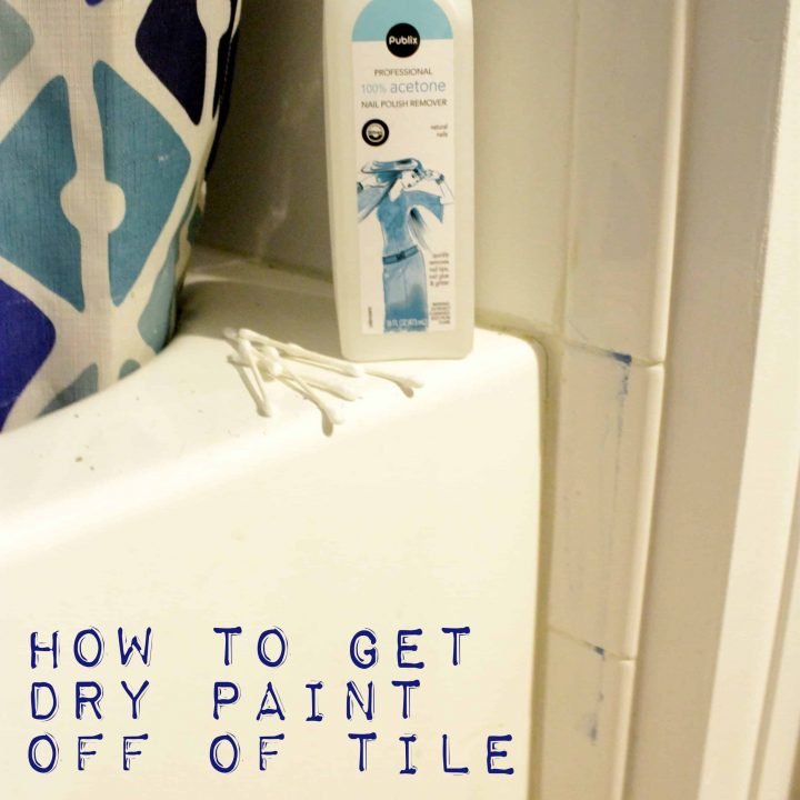 How to get Paint off of Tile