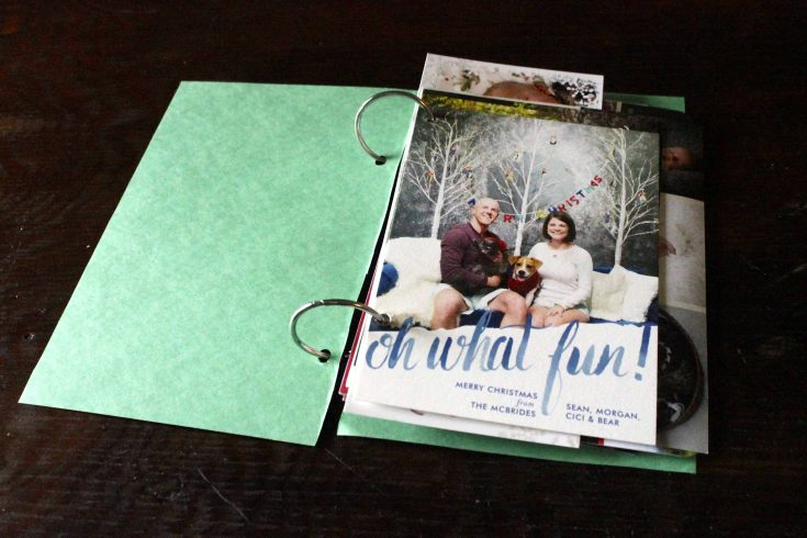 How We're Storing our Holiday Cards