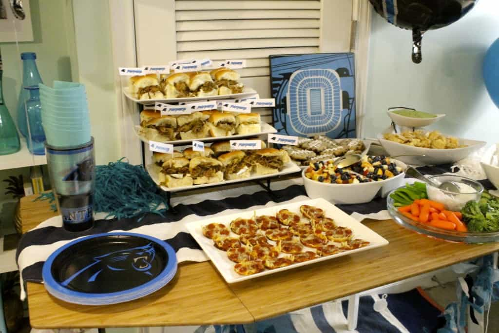 Carolina Panthers Superbowl Football Party - Charleston Crafted