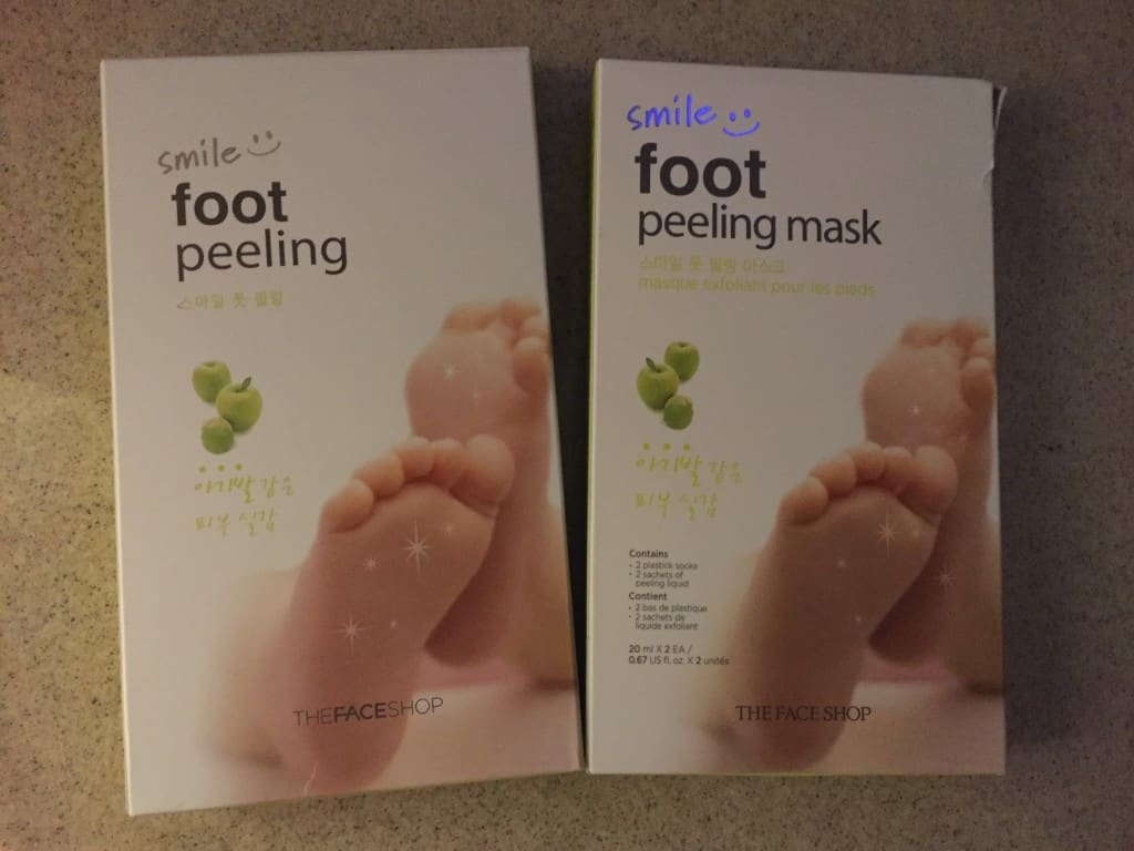 Face Shop Smile Foot Peel Review - Charleston Crafted