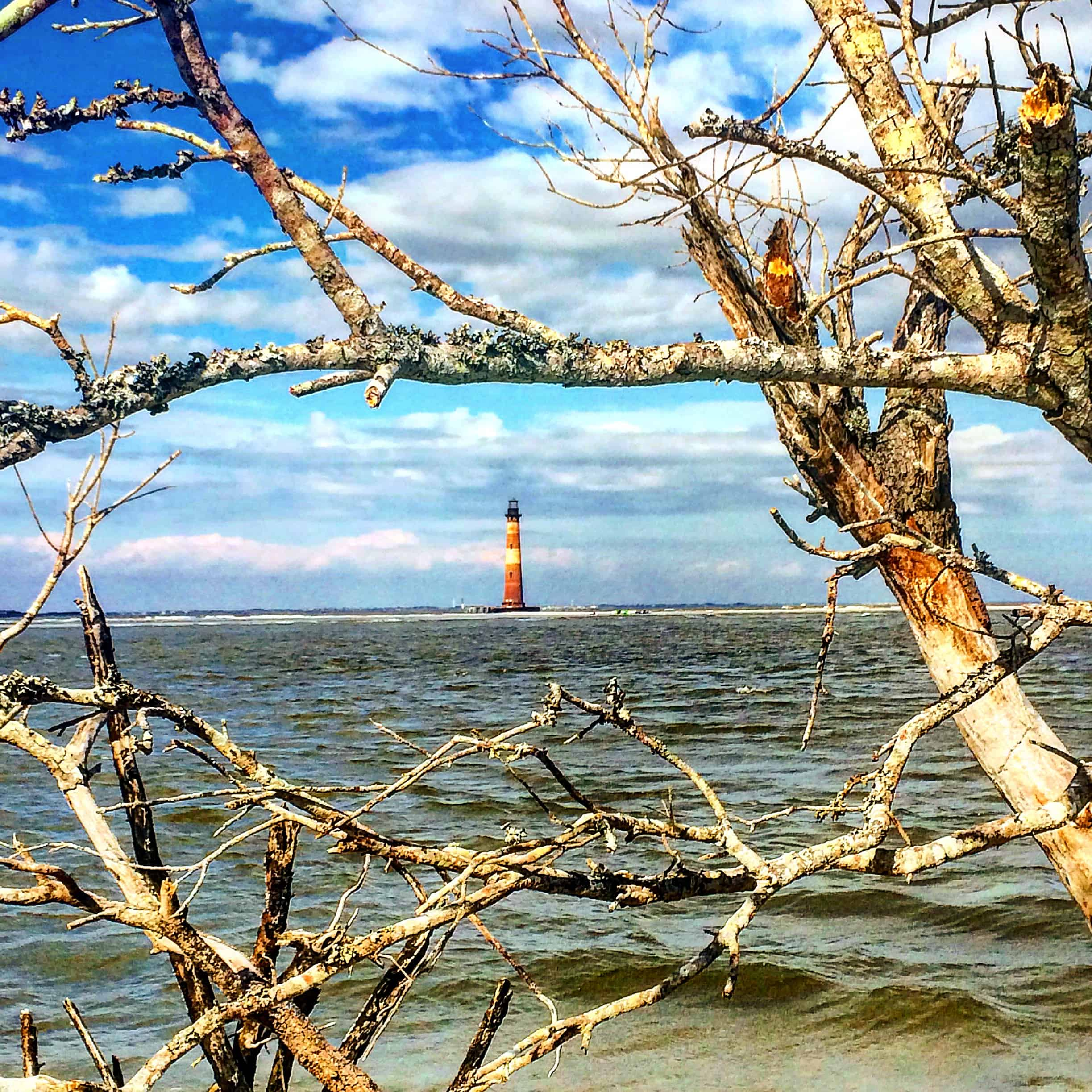 Morris Island Lighthouse on Folly Beach
