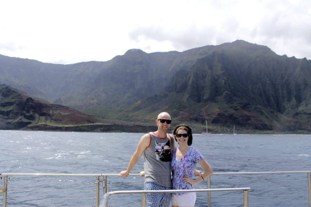 Kauai Day Four - Catamaran Sailing off the Na Pali Coast