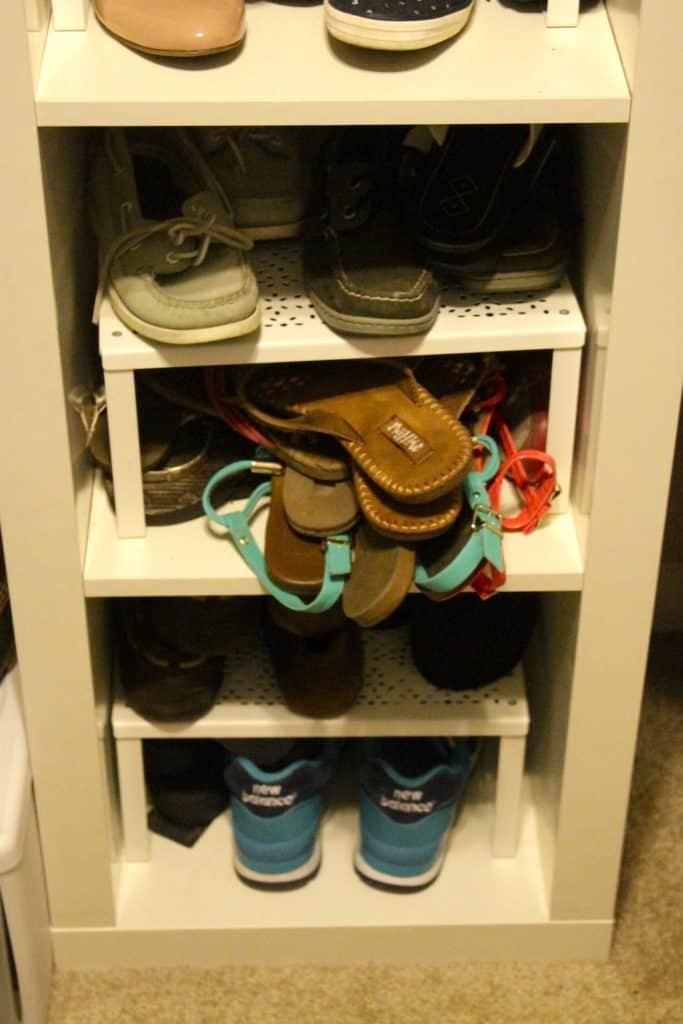 Simple Sandal Organization - Charleston Crafted