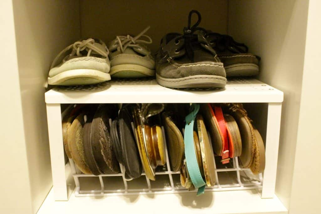 Simple Sandal Organization - Charleston Crafted