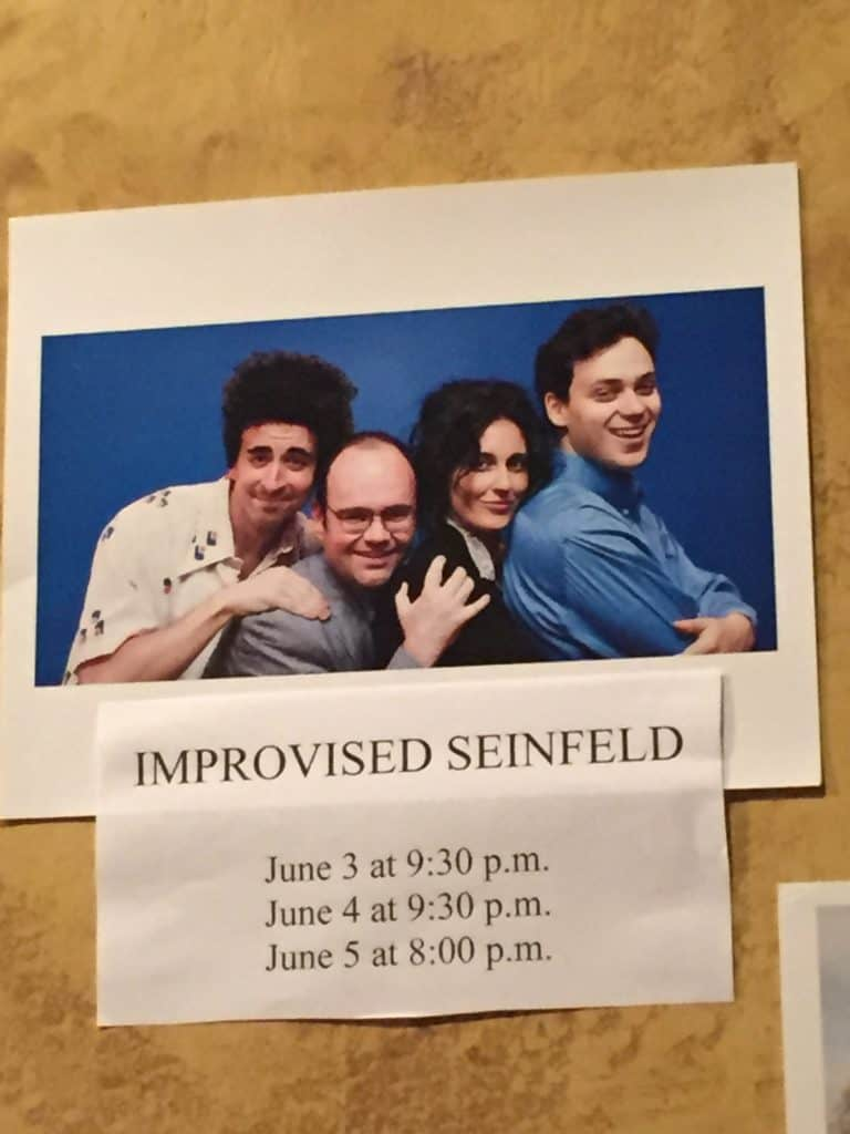 Improvised Seinfeld Review - Charleston Crafted