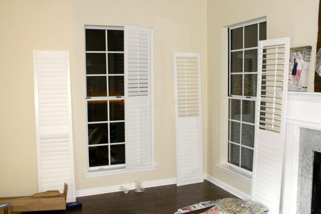 Plantation Shutters in the Living Room - Charleston Crafted