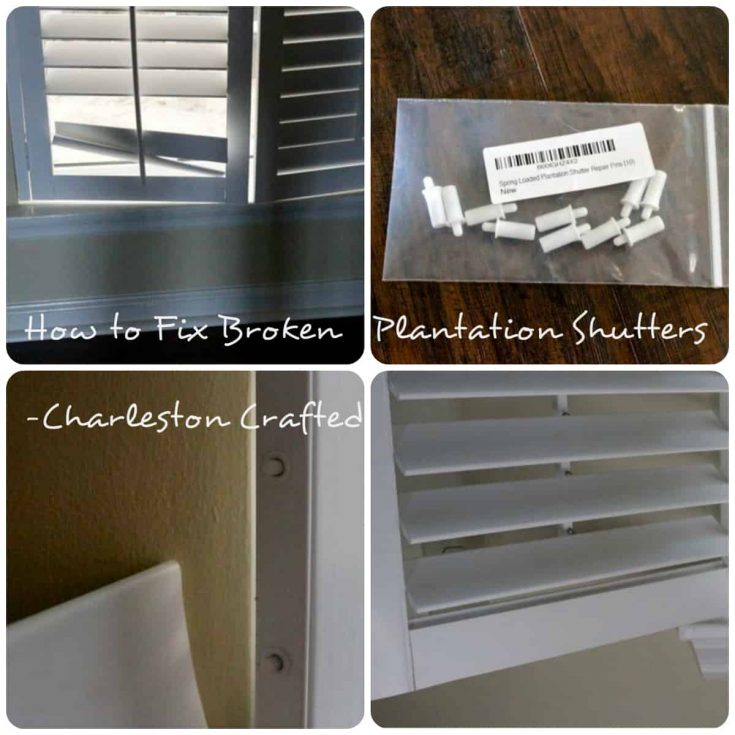 How to Repair Broken Plantation Shutters - Charleston Crafted