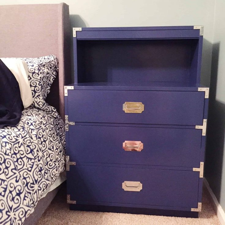 A Campaign Dresser and Side Table Makeover