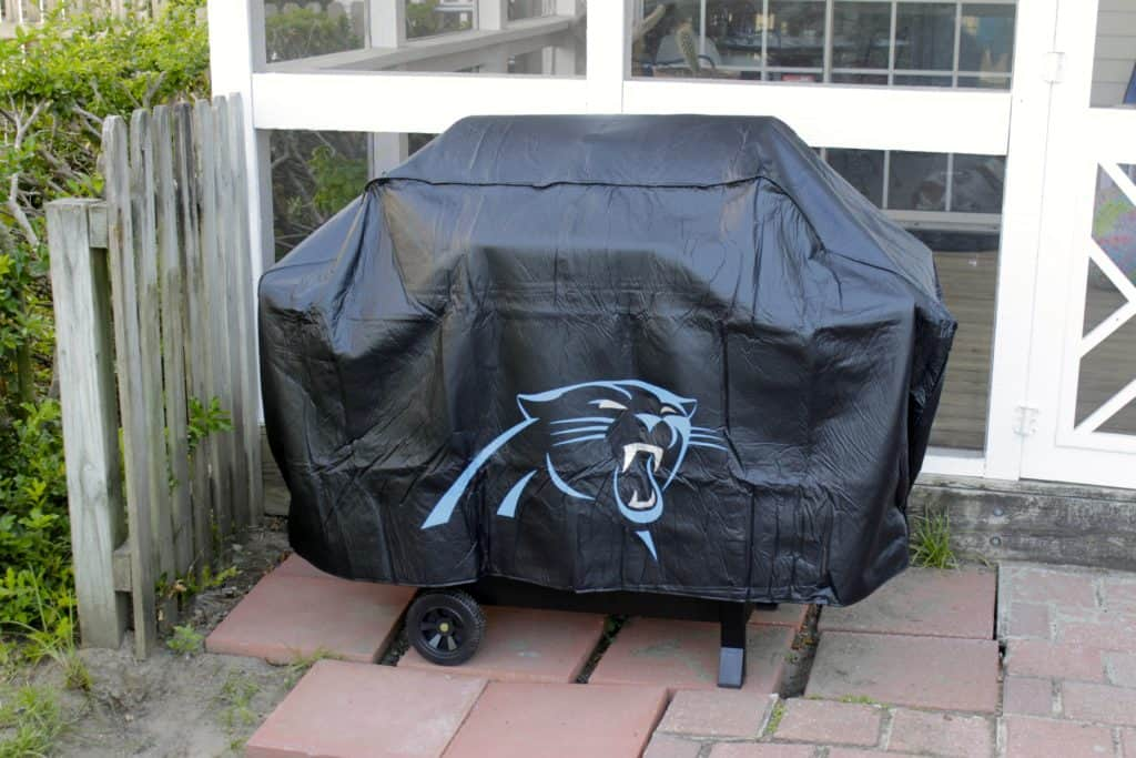 New Grill and Carolina Panthers Grill Cover - Charleston Crafted