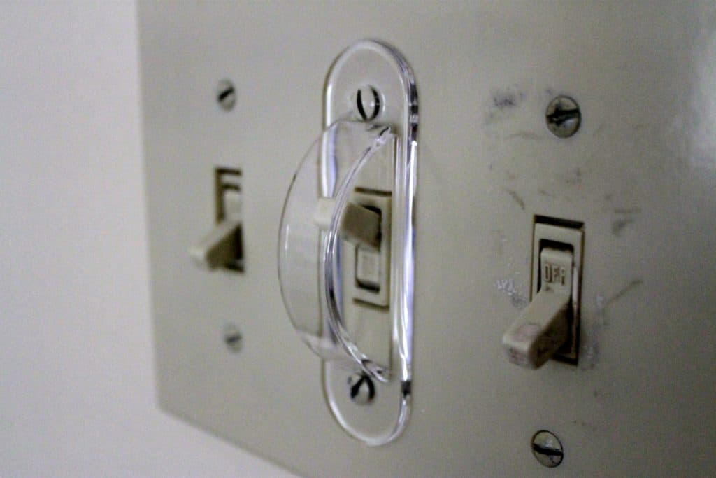 Light Switch Guard in use - Charleston Crafted