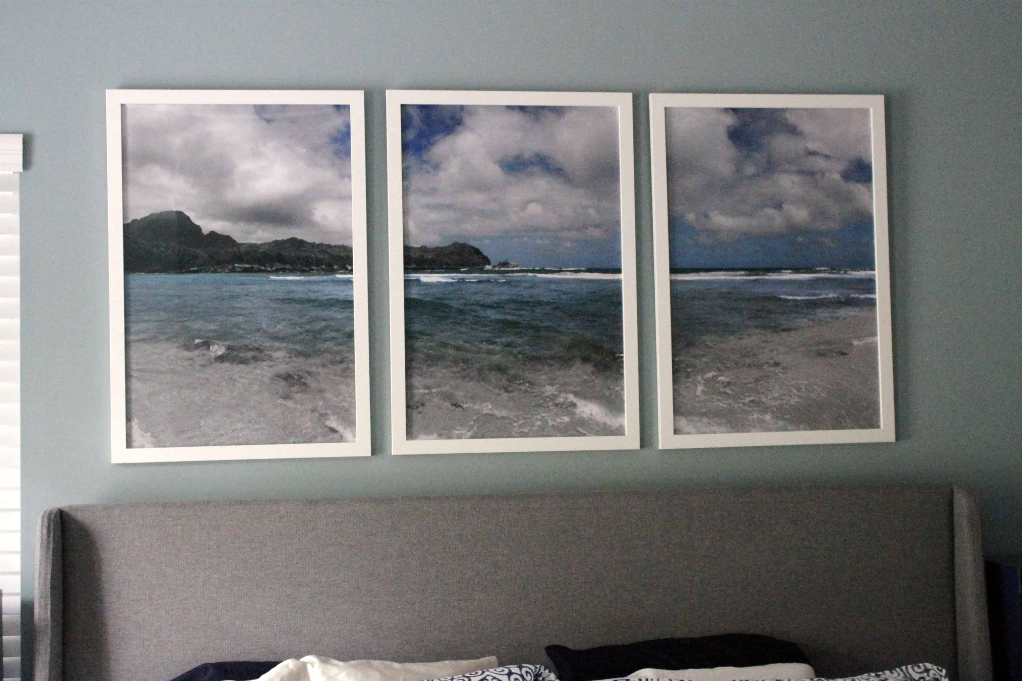 Gorgeous Kauai Photo Triptych Over the Bed