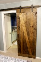 Easiest & Cheapest Way to Build a Rustic Barn Door – FREE PDF Plans