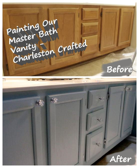 Painting Our Bathroom Vanity Charleston Crafted