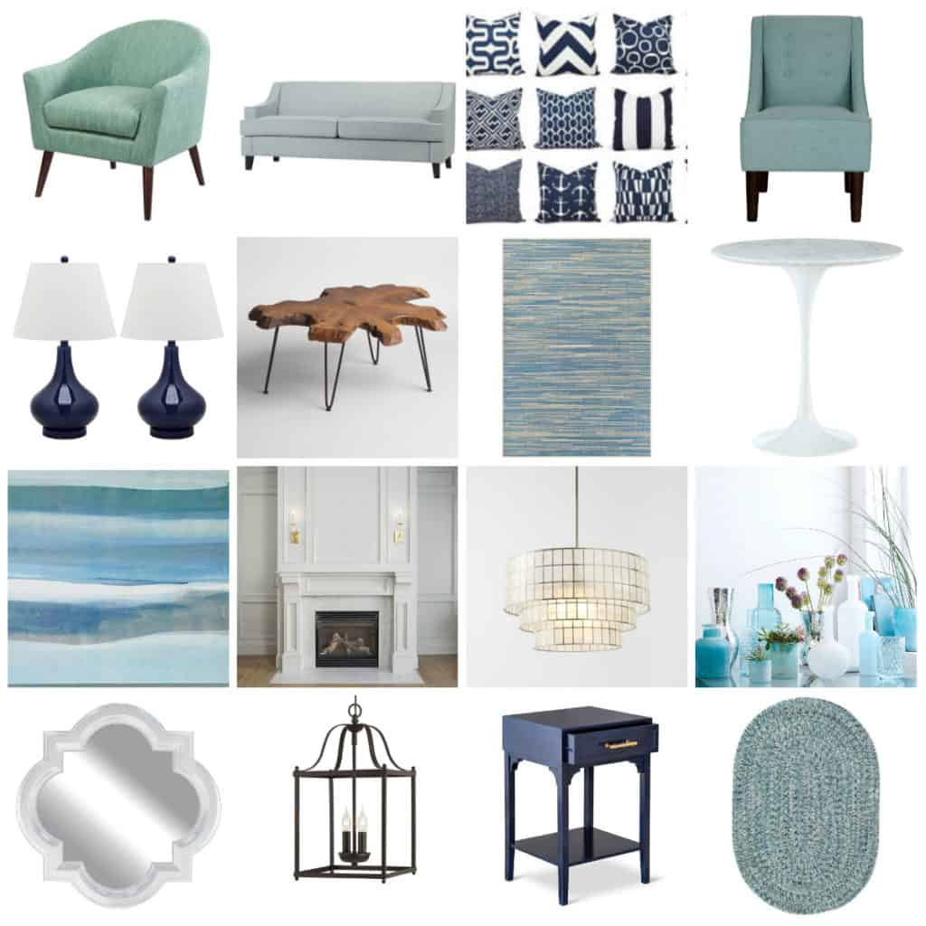 front room inspiration mood board - charleston crafted