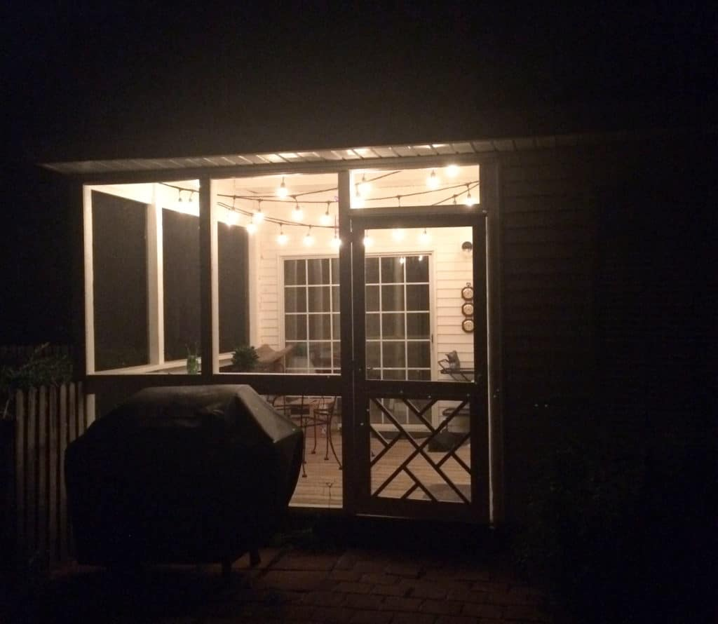 String Lights for the Screened Porch - Charleston Crafted