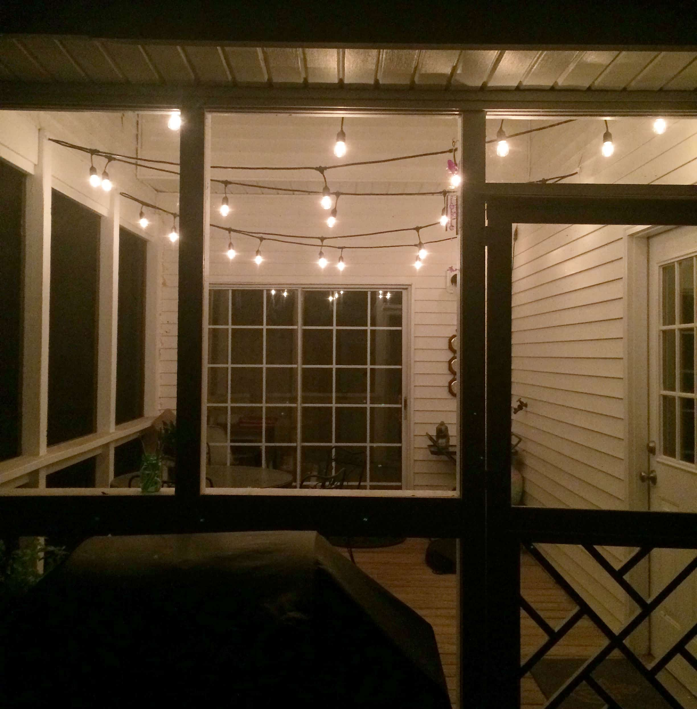 String Lights For The Screened Porch Charleston Crafted