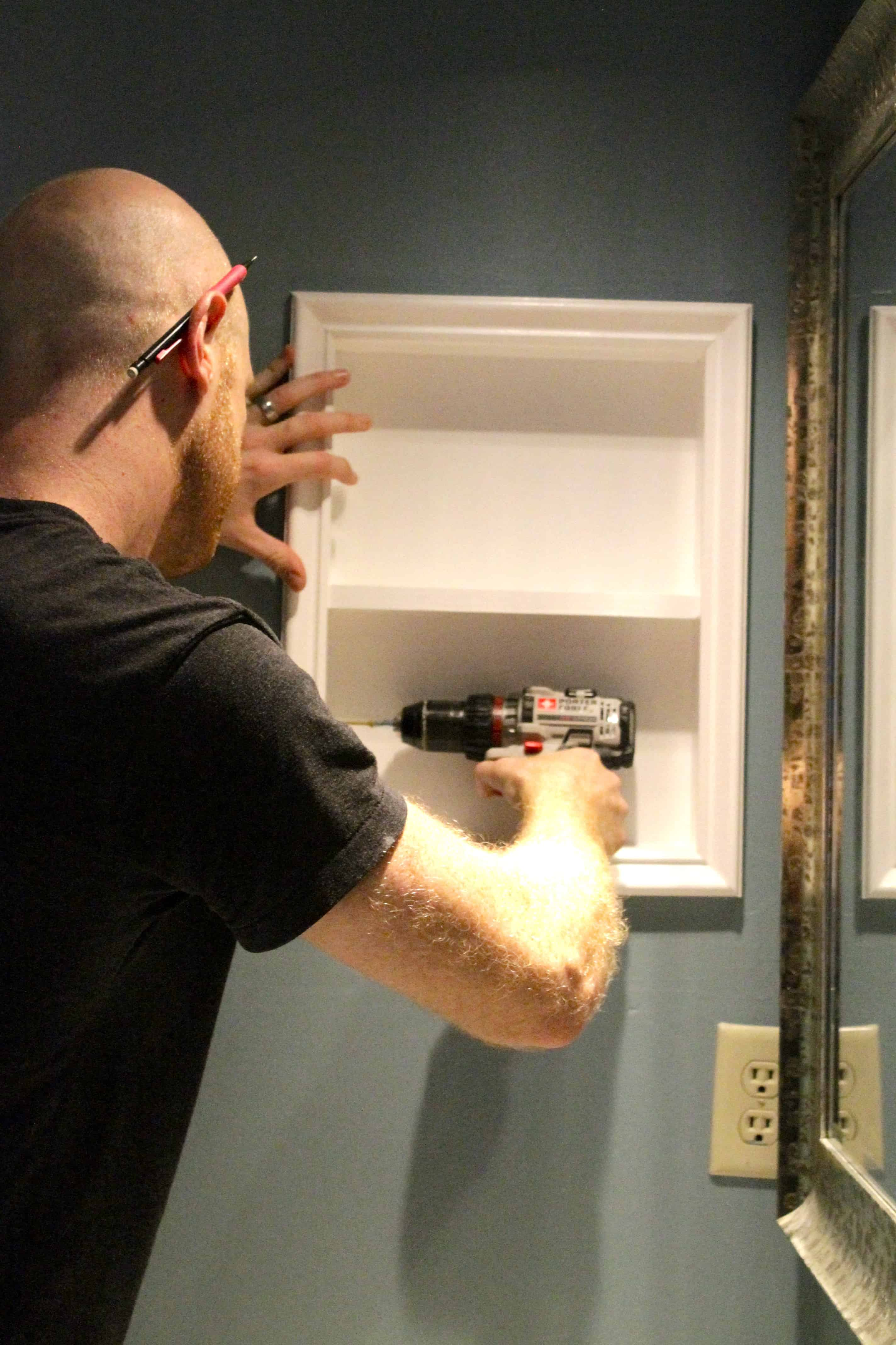 How To Turn An Old Medicine Cabinet Into Open Shelving