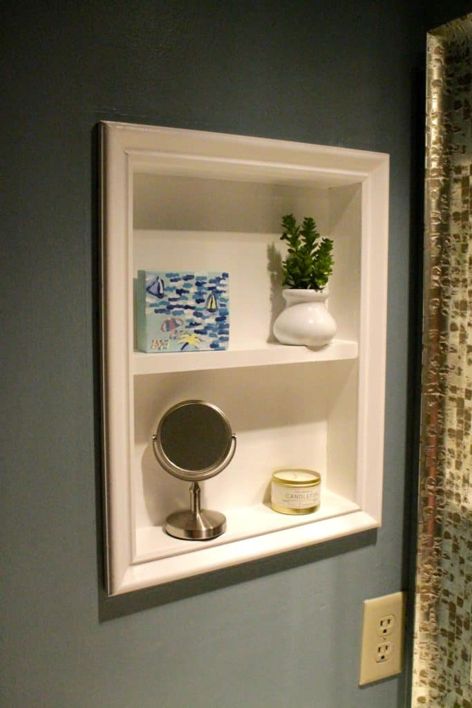 How To Turn Old Medicine Cabinet Into Open Shelving