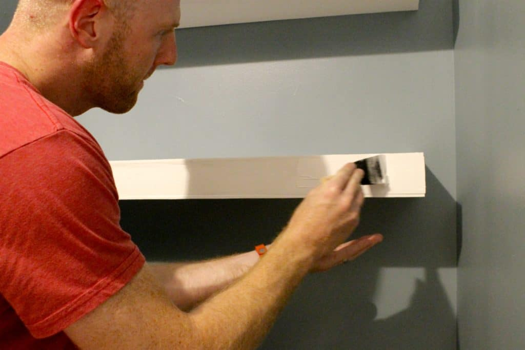 How to build and install floating shelves above a toilet - charleston crafted