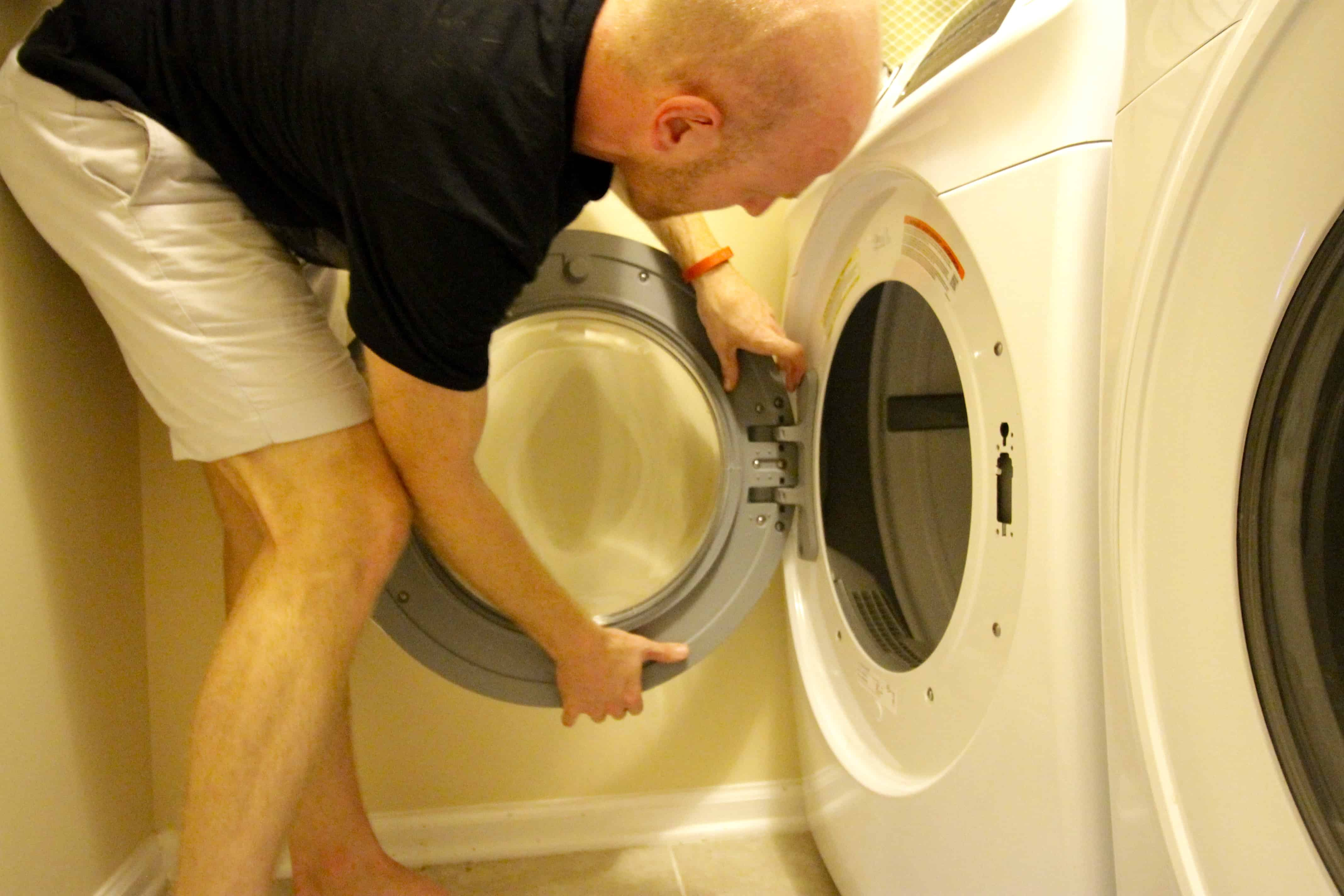 How to reverse a dryer door - charleston crafted