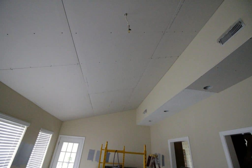 Drywalling Over Popcorn Ceilings - Charleston Crafted