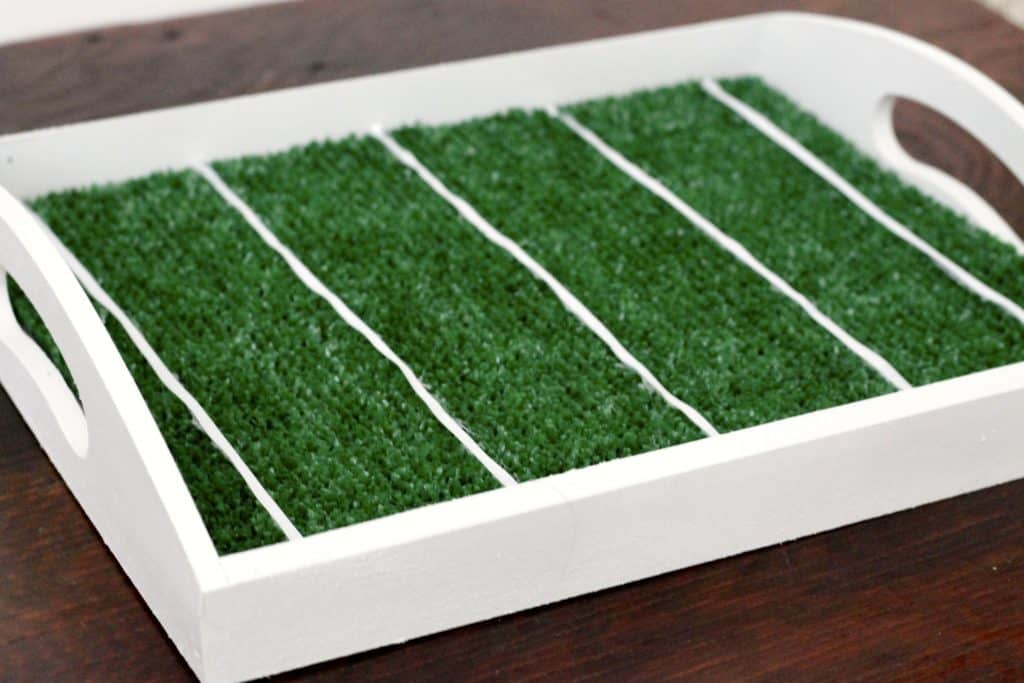 DIY Football Field Serving Tray - Charleston Crafted
