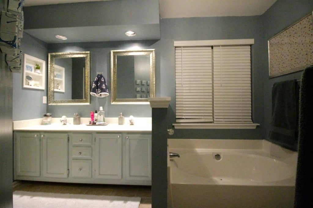 Master Bathroom Mini Makeover After & Budget Breakdown - Charleston Crafted