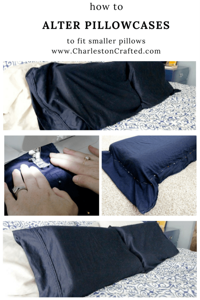 How to alter pillowcases to fit smaller pillows - via charleston crafted