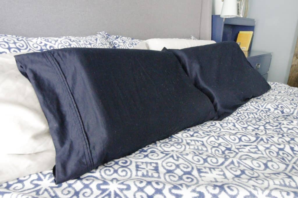 How to alter pillowcases to fit foam pillows - Charleston Crafted