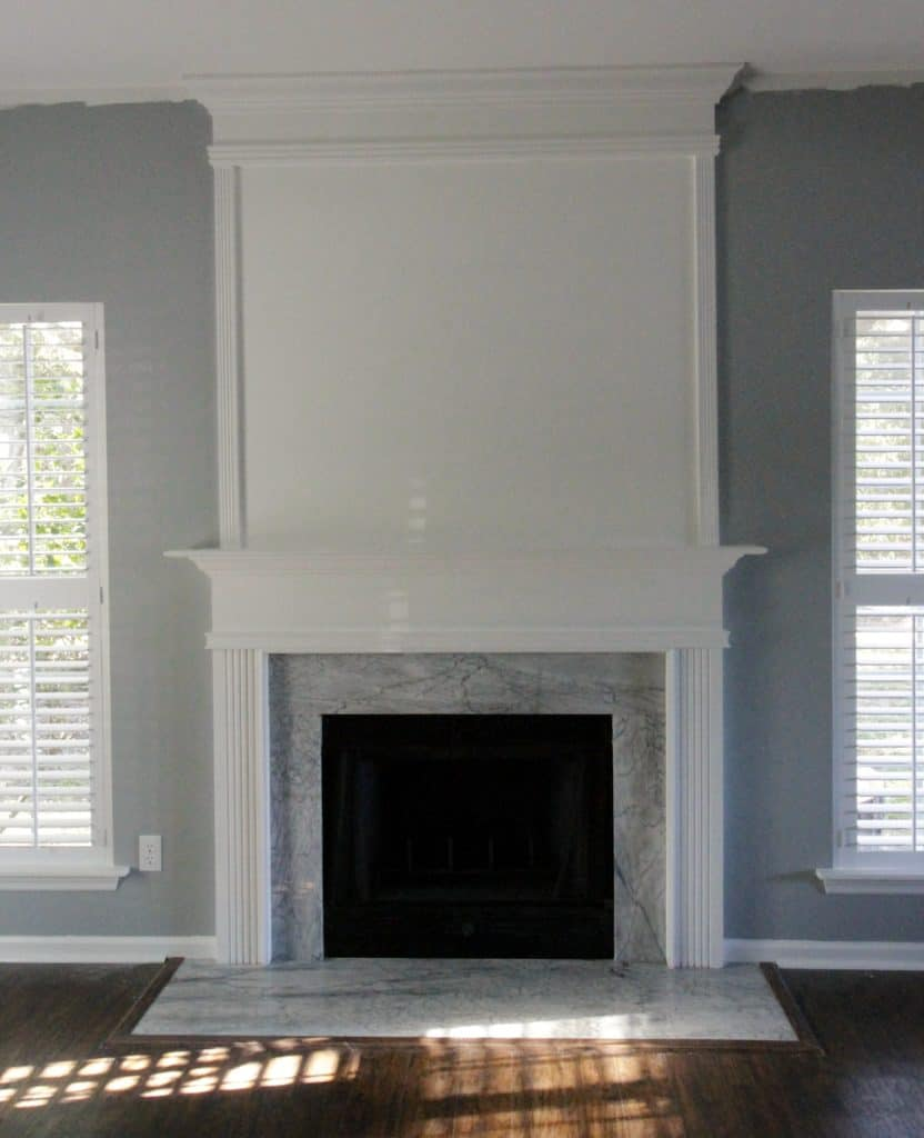 How to use moulding to extend your fireplace - Charleston Crafted