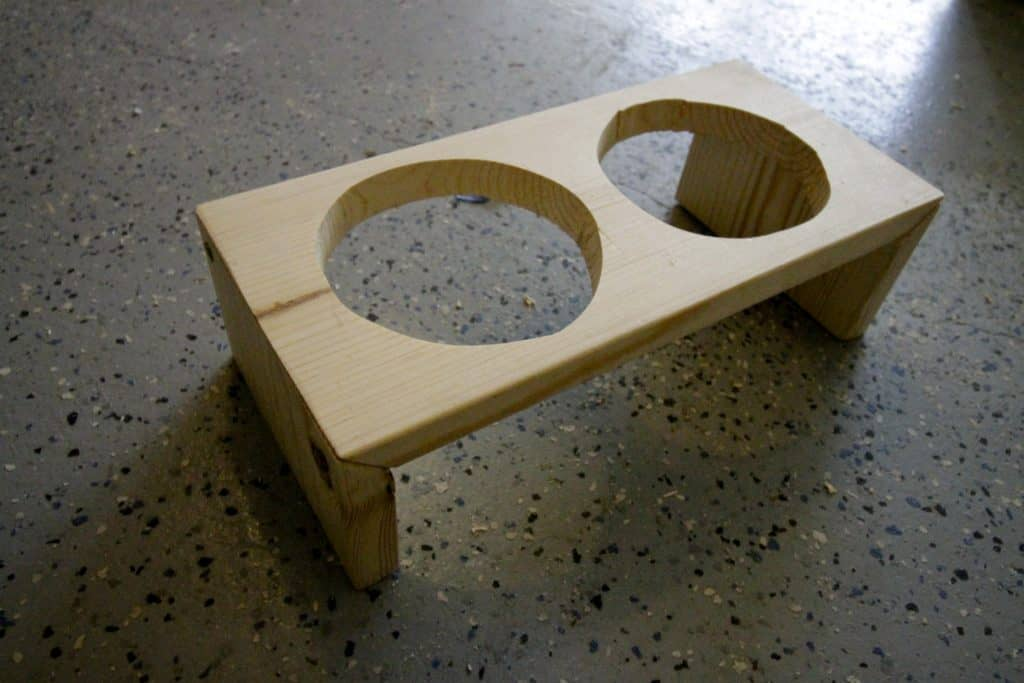 DIY Raised Pet Feeding Station: a Nice Gift for Naughty Pets - Charleston Crafted