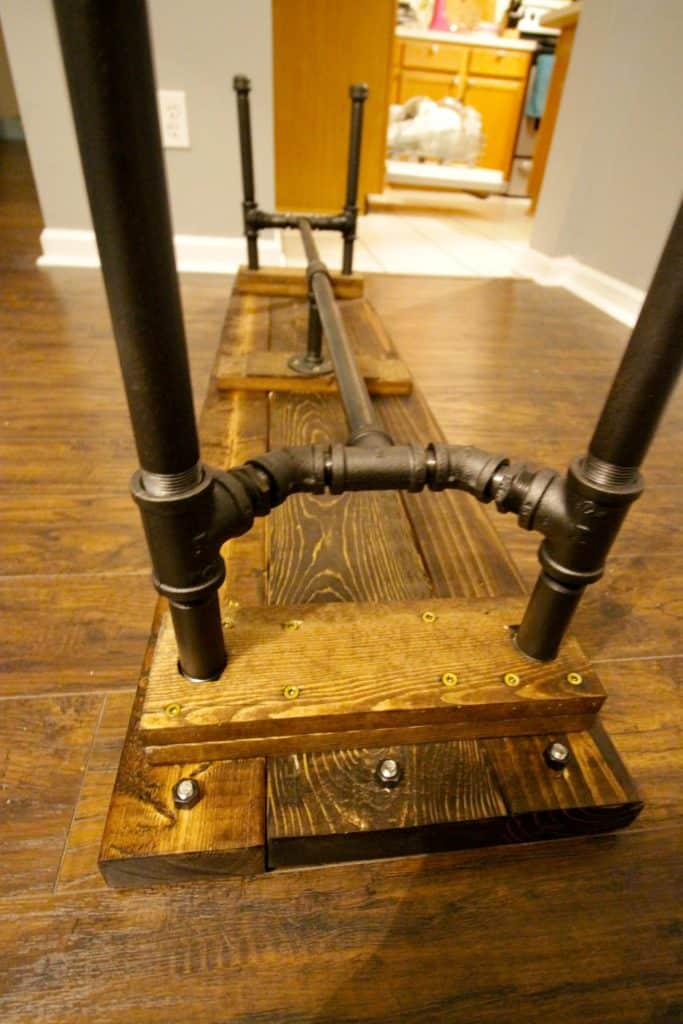 DIY Industrial Pipe Bench - Charleston Crafted