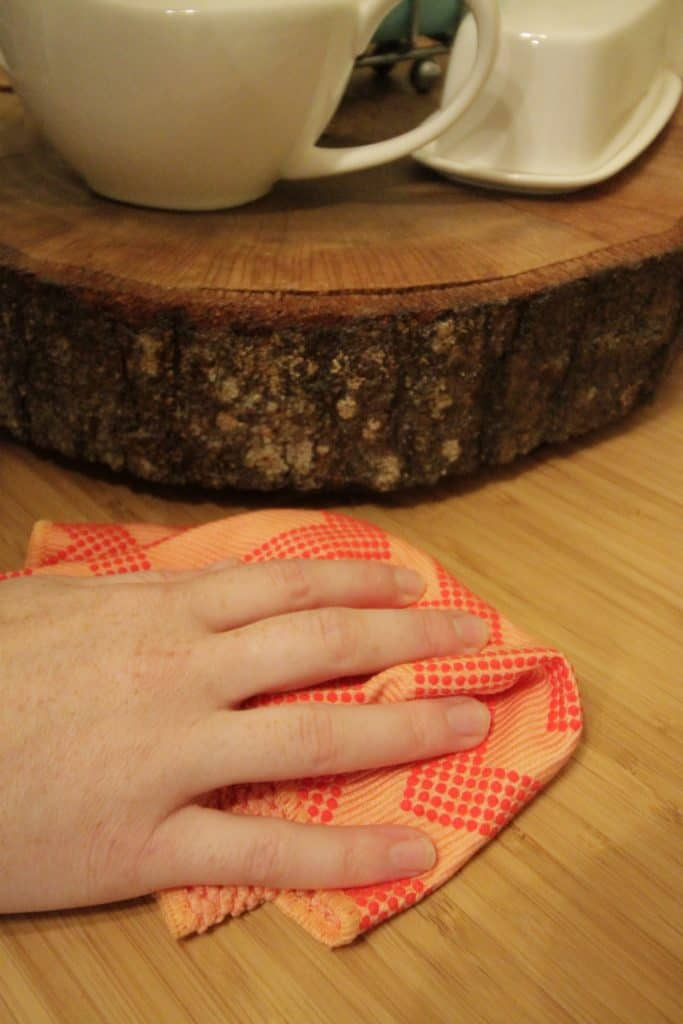 DIY Wood Slice Lazy Susan Tutorial - Charleston Crafted