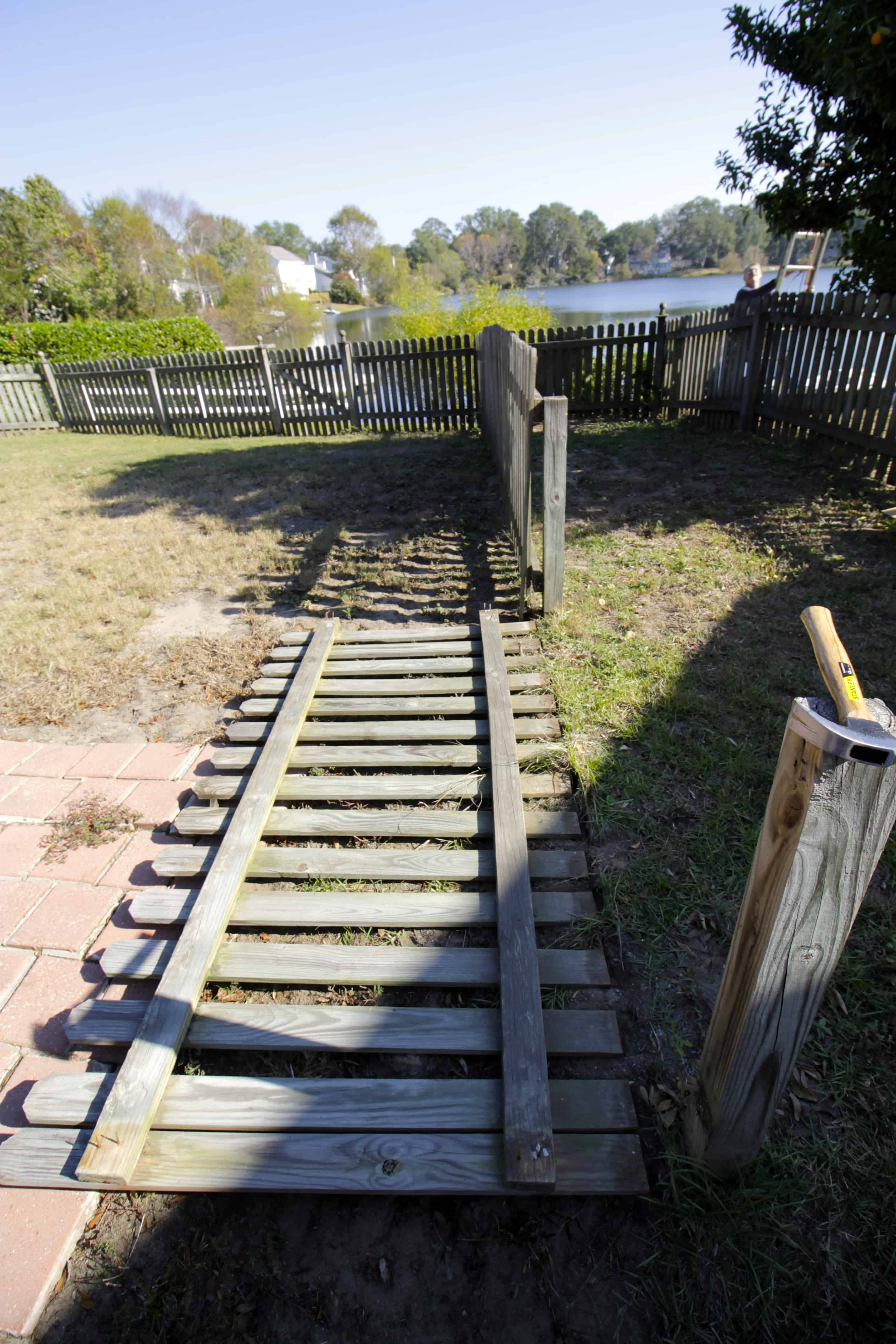 Removing the Dog Run - Charleston Crafted