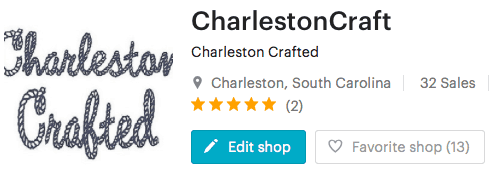 Etsy Shop Re-Launch - Charleston Crafted