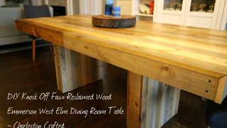 West Elm Emmerson Table DIY Knock Off