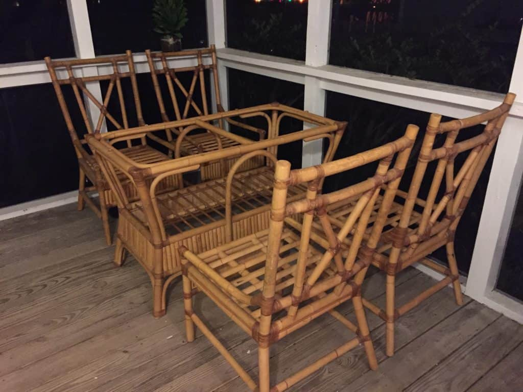 I Found Bamboo Furniture on the Side of the Road - Charleston Crafted