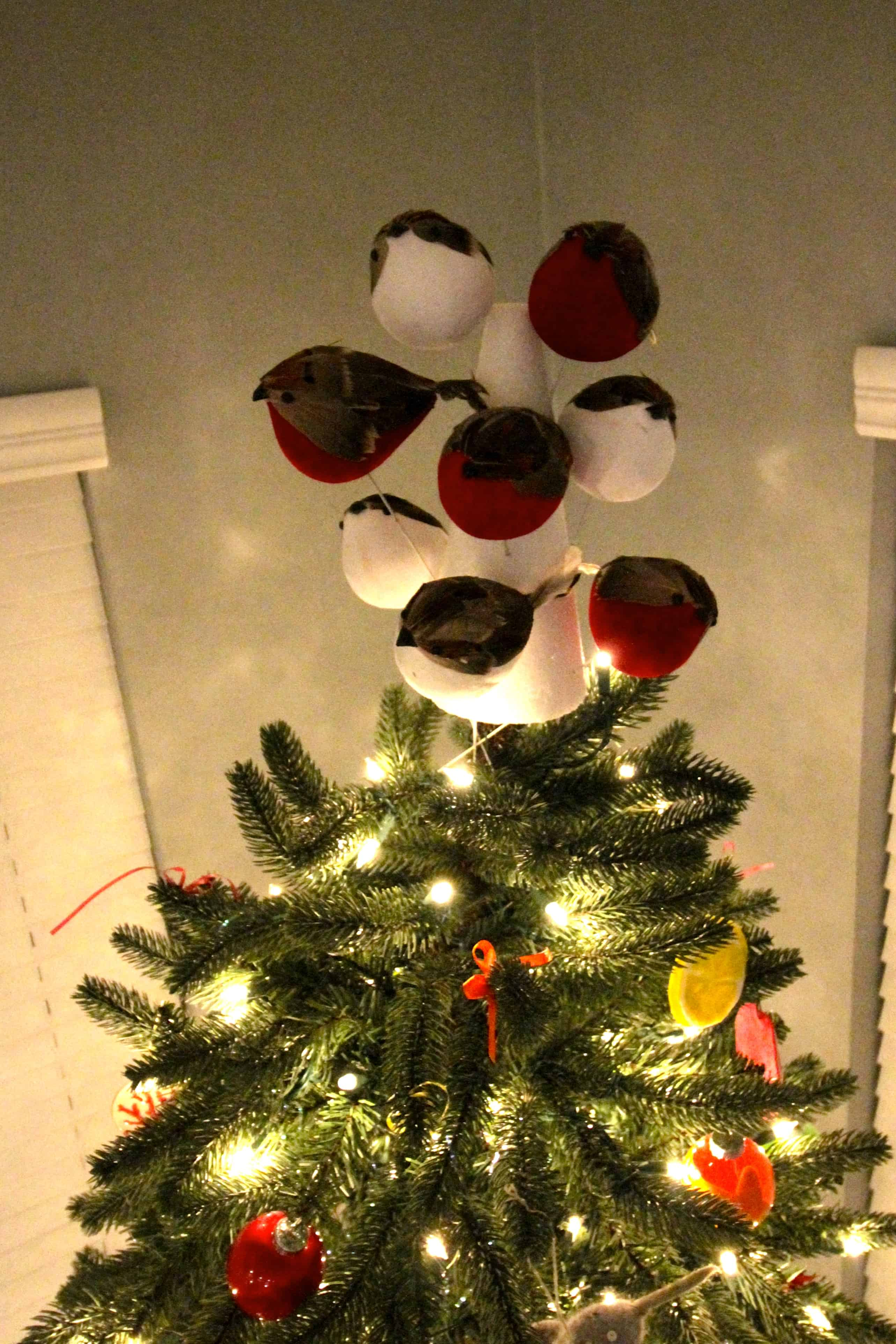 Diy Flock Of Birds Christmas Tree Topper