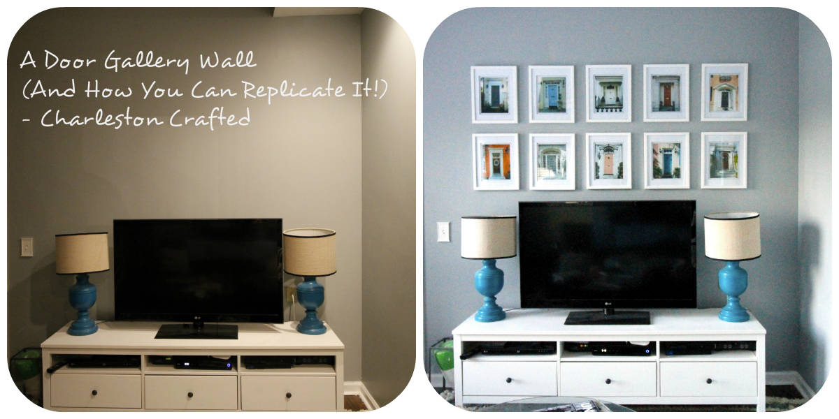 A Door Gallery Wall (And How You Can Replicate It!) - Charleston Crafted