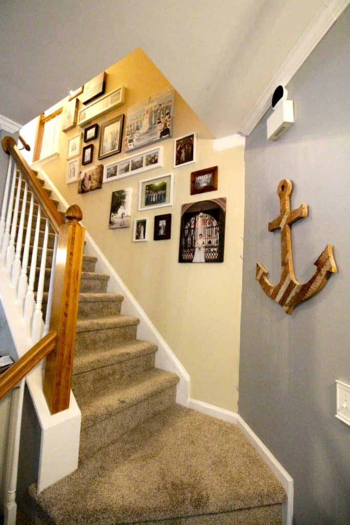 A Staircase Gallery Wall - Charleston Crafted