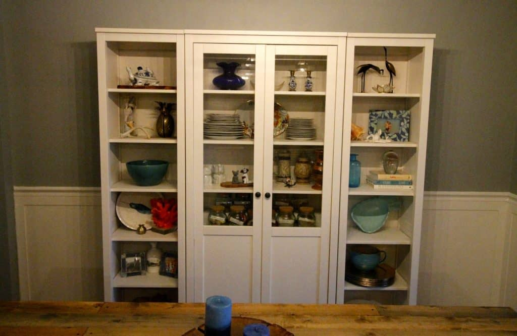 IKEA Hemnes Glass Door China Cabinet