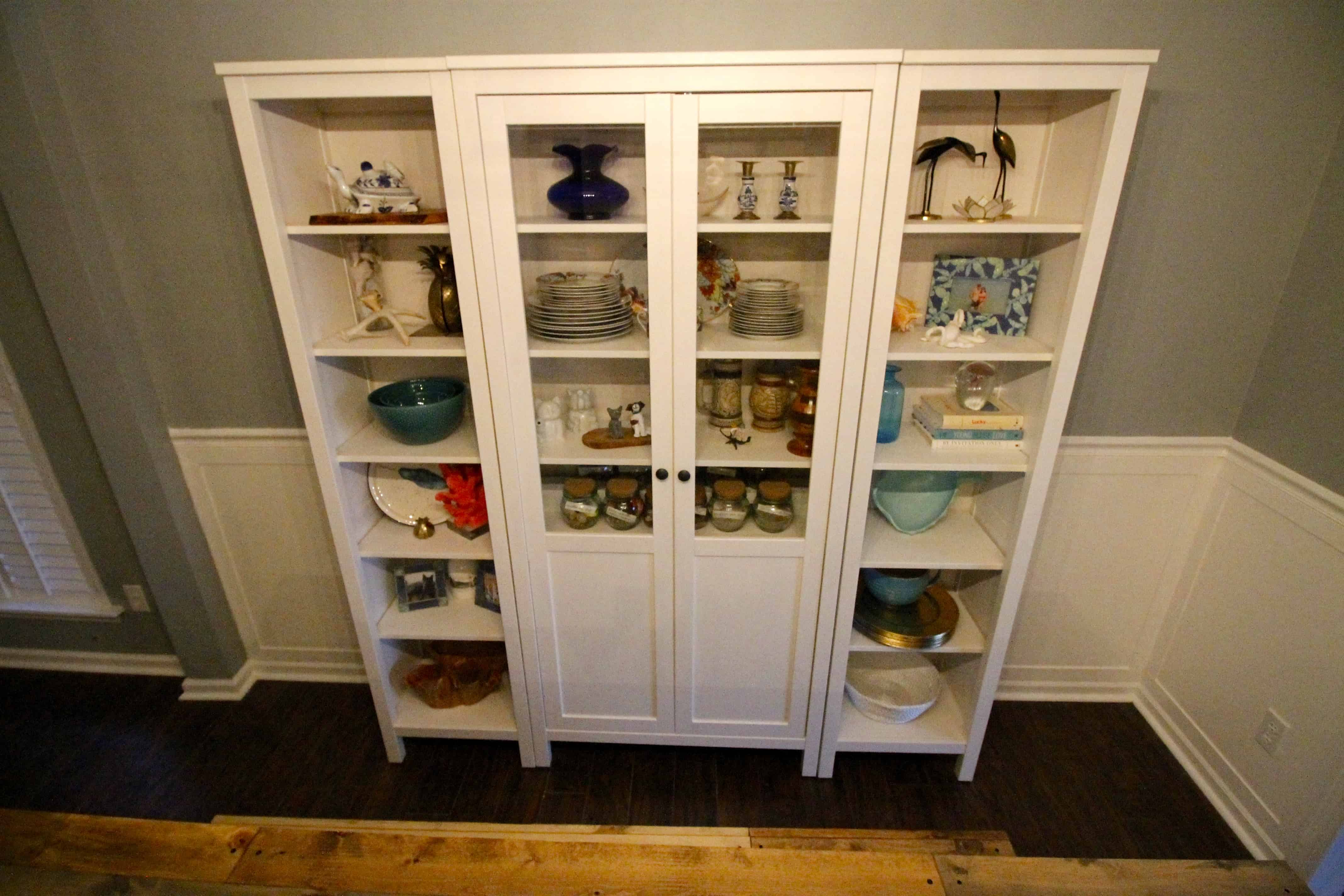 Bon I Am Focusing On Blue, White, Gold, And A Little Bit Of Natural Wood. What  Do You Think? The Center Cabinet Holds My China Set And A Few Other Pieces.