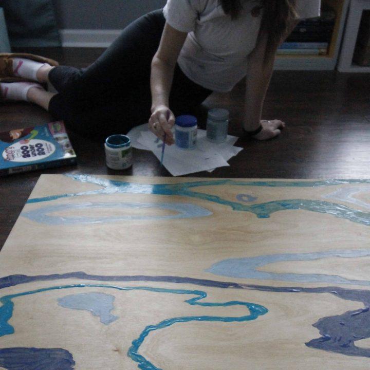 How to paint wood grain art
