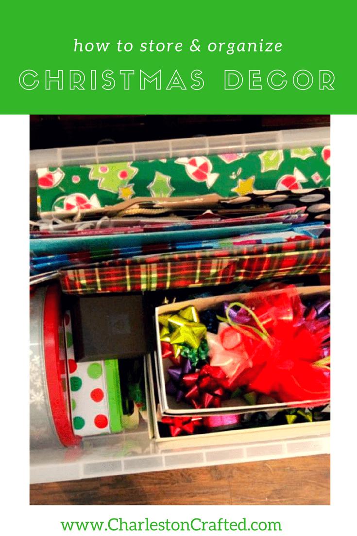 How To Organize & Store Christmas Decor