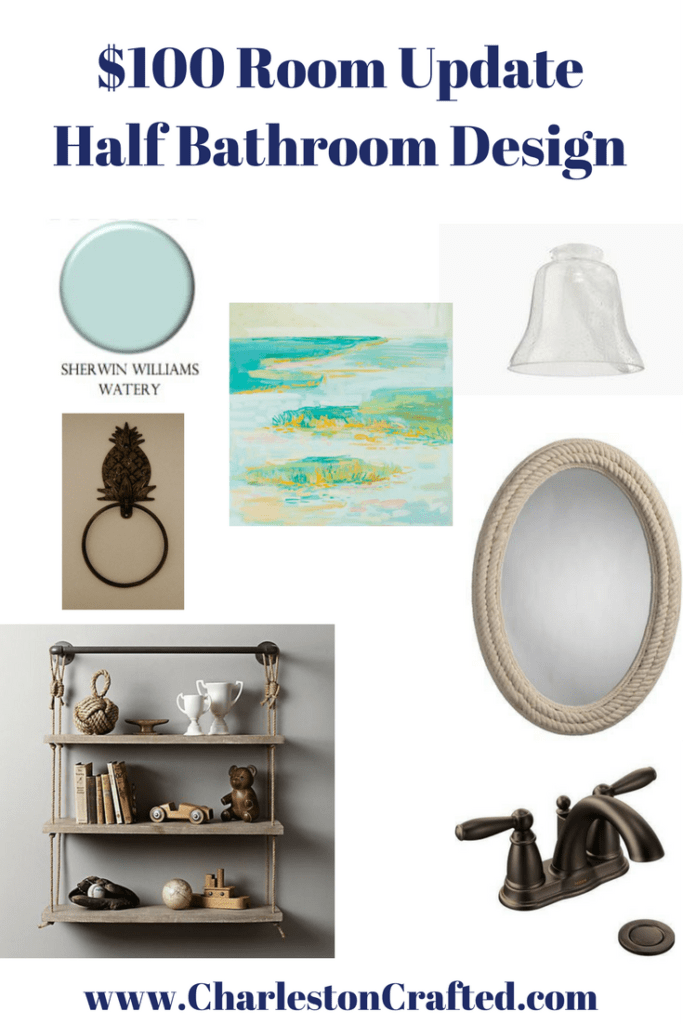 Half Bathroom Mood Board Design - Charleston Crafted