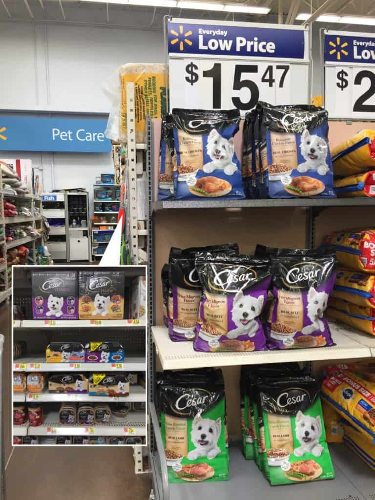 Cesar pet food at Walmart - Charleston Crafted