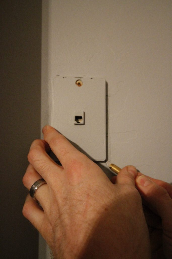Patching Drywall Over an Old Phone Jack - Charleston Crafted