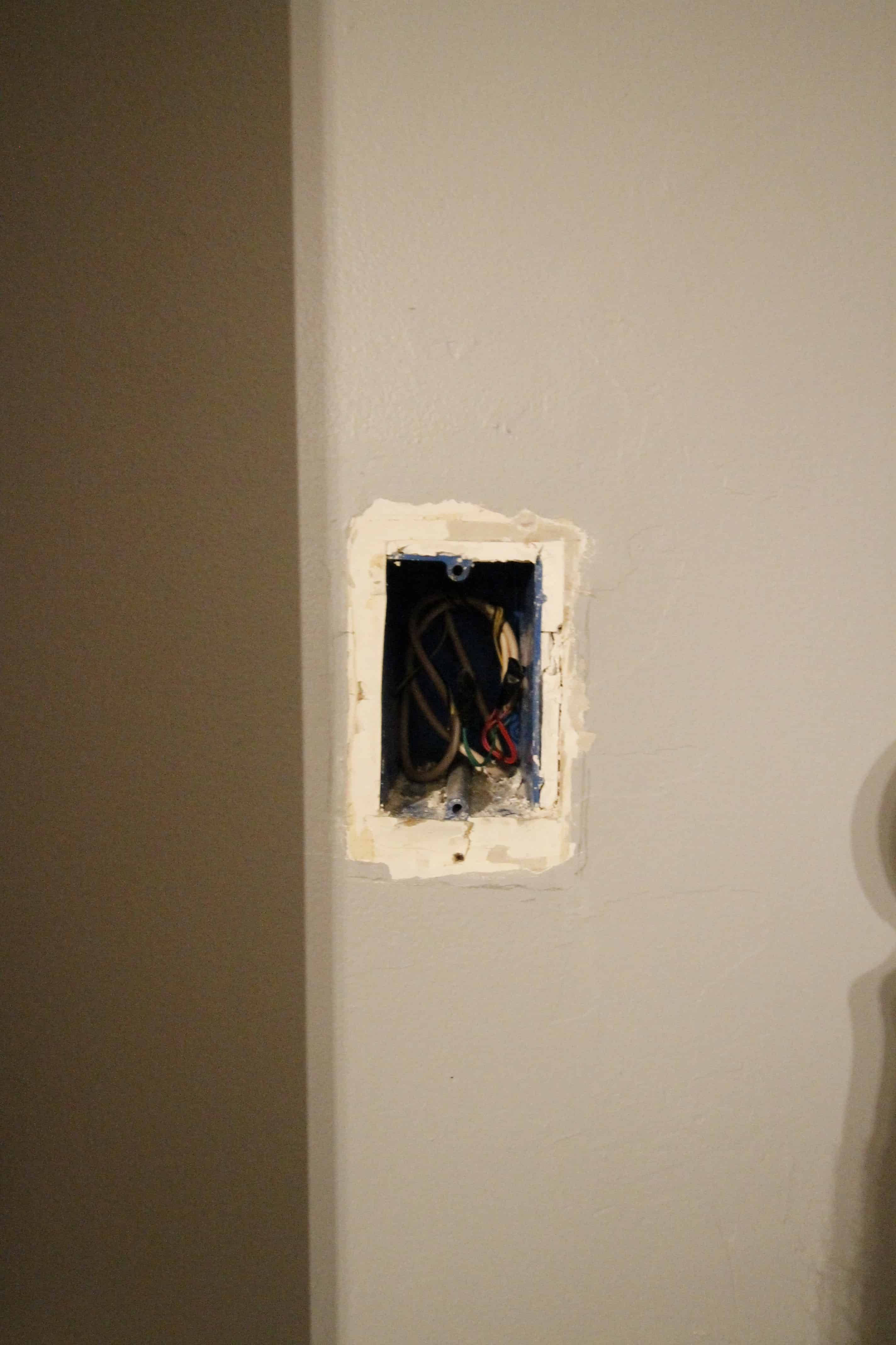 Phone Jack Wires Exposed Simple Wiring Diagram Site Plug How To Remove A Patch The Drywall Telephone Wall