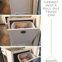 Turning a Cabinet into a Pull Out Trash Can Cabinet