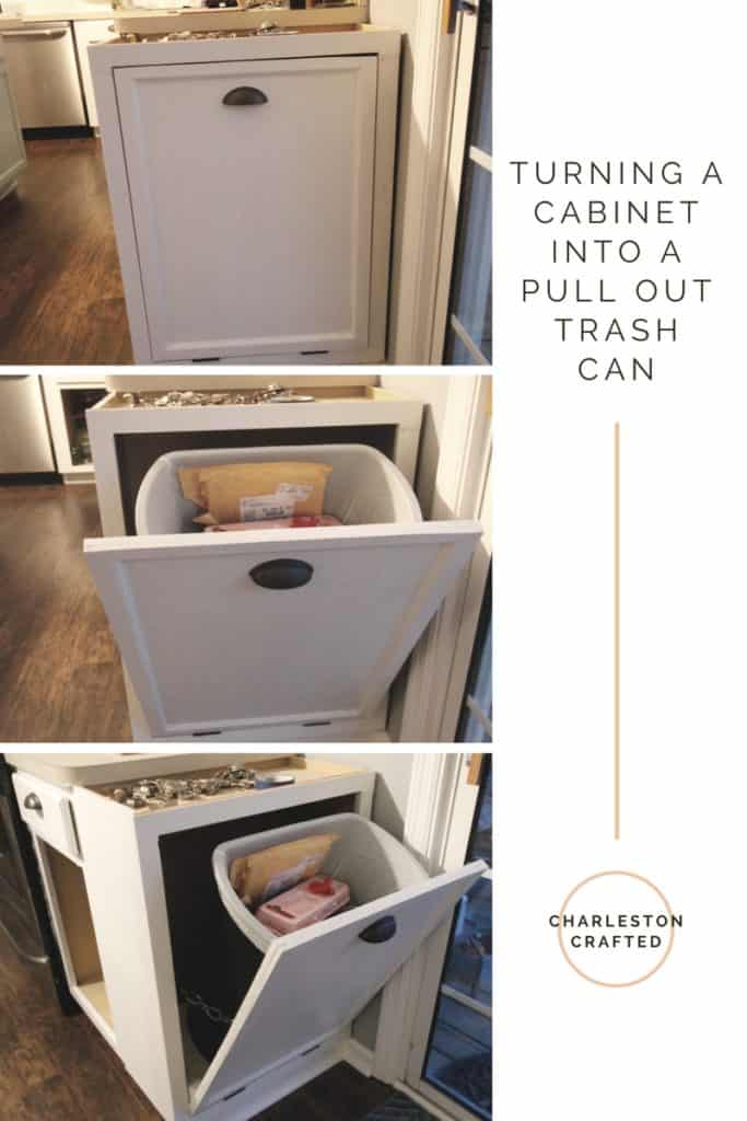 Turning a Cabinet into a Pull Out Trash Can - Charleston Crafted